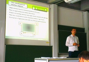 Michael Storz presents his work at Dagstuhl Castle