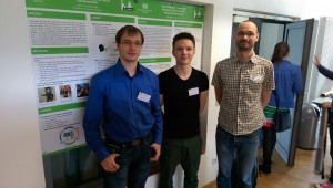 René, Benedikt and Tobias presenting their posters at Dagstuhl